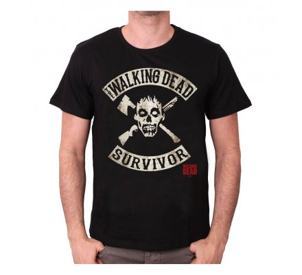 Tee-Shirt Noir Survivor The Walking Dead