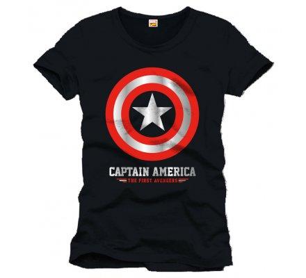 Tee-Shirt Noir The First Avengers Captain America