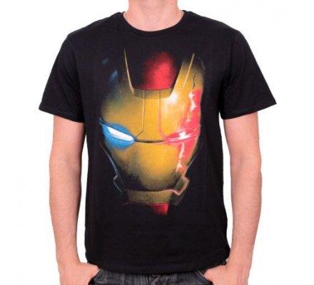 Tee-Shirt Noir Ultron Virus Iron Man