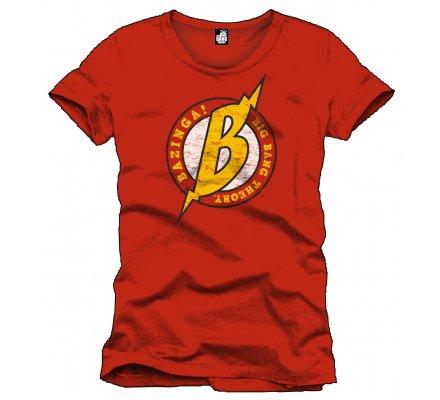 Tee-Shirt Rouge Bazinga The Big Bang Theory