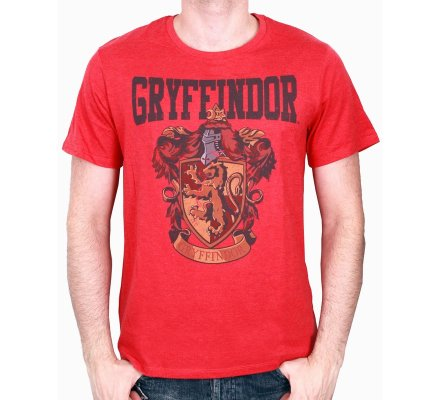 Tee-Shirt Rouge Gryffondor Harry Potter