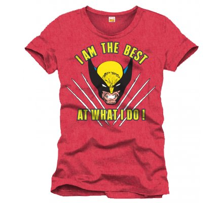 Tee-Shirt Rouge I'm The Best Wolverine