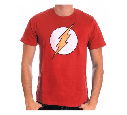 Tee-Shirt Rouge Logo Flash