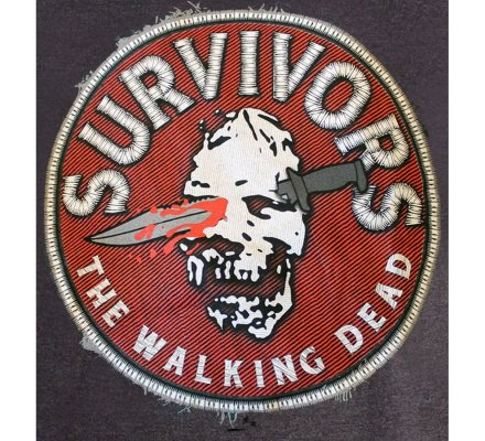 Tee-Shirt Skull Survivor Walking Dead