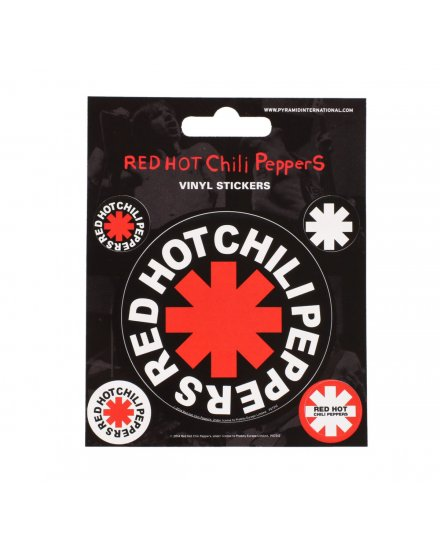Pack de 5 Stickers Red Hot Chili Peppers