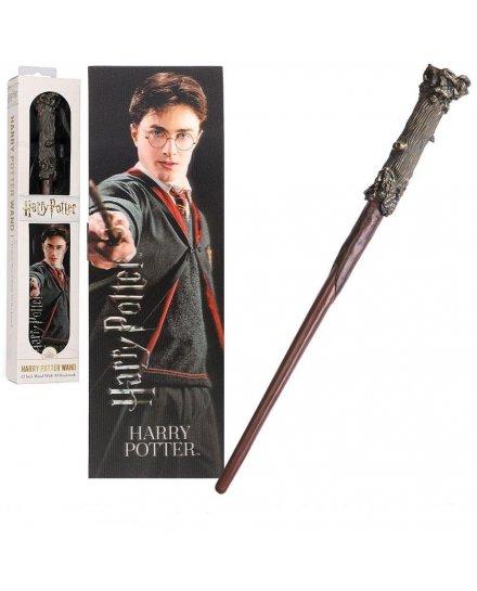 Baguette Harry Potter 30 cm et marque page 3D