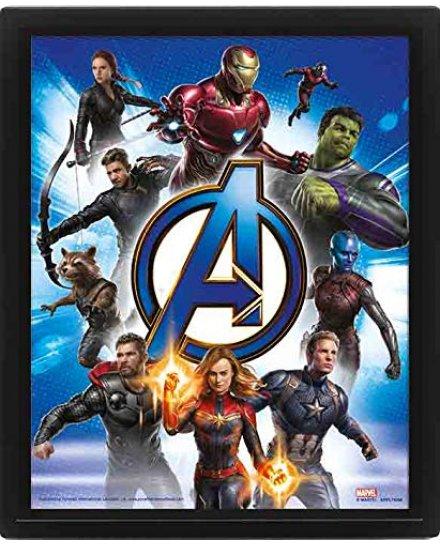 Cadre Avengers Endgame 3D