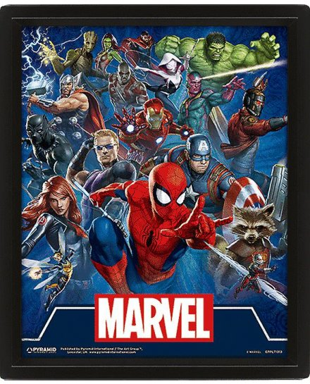 Cadre Marvel Super-héros 3D