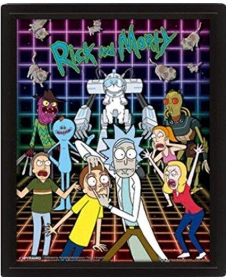 Cadre Rick et Morty Personnages 3D