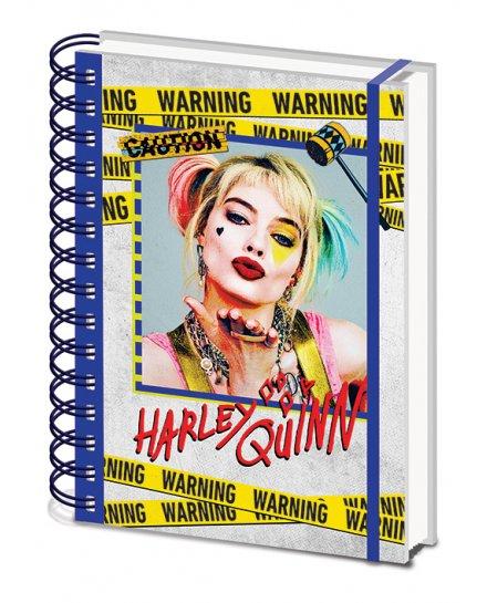 Carnet Bloc Notes A5 Harley Quinn Warning