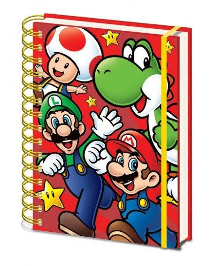 Carnet Bloc Notes A5 Super Mario Run Nintendo