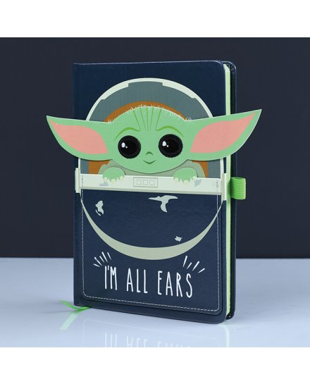 Carnet Bloc Notes Baby Yoda Star Wars Mandalorian