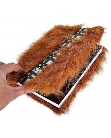 Carnet Bloc Notes Star Wars Chewbacca velu A5