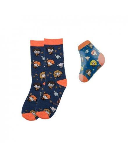 Chaussettes magiques compressées Harry Potter Kawaii-Orange