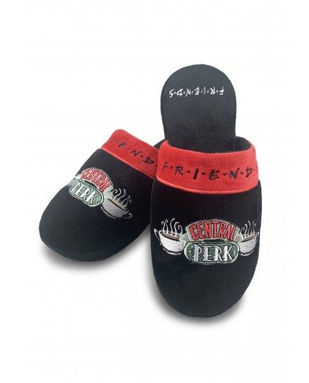 Chaussons Friends Central Perk rouges et noirs