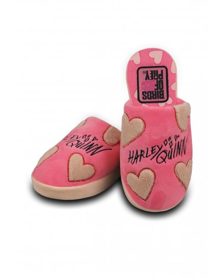 Chaussons Harley Quinn Hearts roses