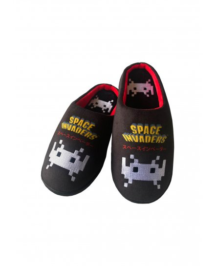 Chaussons Space Invaders noirs
