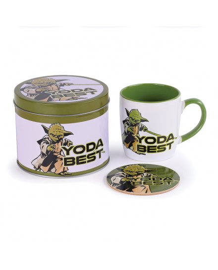 Tasse et dessous de verre Star Wars (Yoda Best)