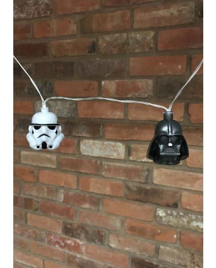 Guirlande lumineuse Star Wars Trooper et Dark Vador 3D