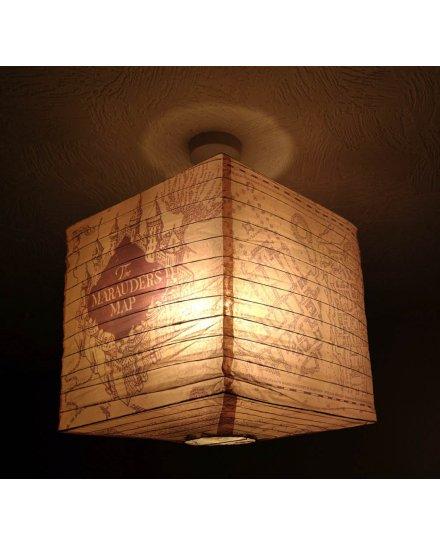 Suspension Harry Potter cube Carte du Maraudeur
