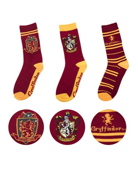 Lot 3 paires de chaussettes Gryffondor Harry Potter