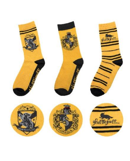 Lot 3 paires de chaussettes Poufsouffle Harry Potter
