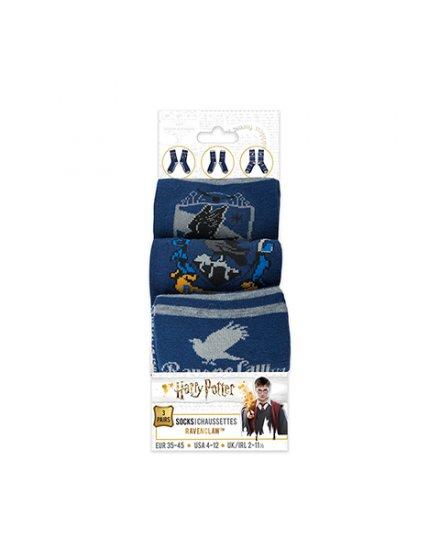 Lot 3 paires de chaussettes Serdaigle Harry Potter