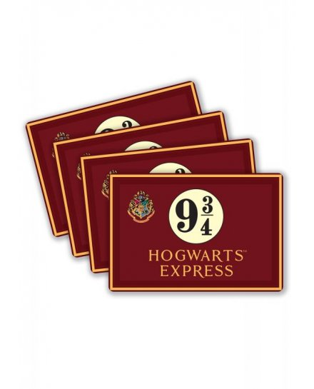 Lot de 4 Sets de table Harry Potter 9 3/4 Hogwarts Express