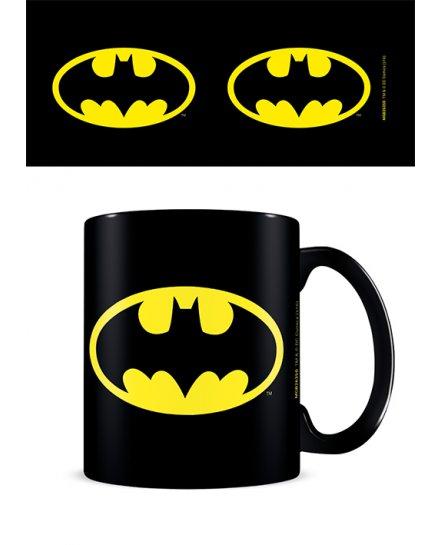 Mug Batman noir logo jaune