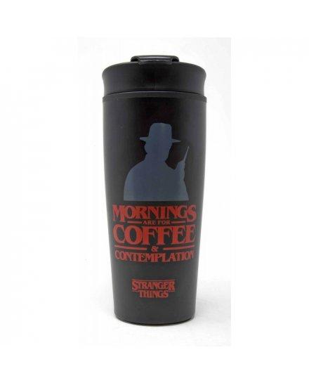 Mug de voyage Stranger Things Mornings Coffee