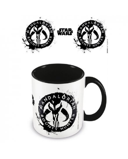 Mug Star Wars The Mandalorian Bounty Hunter noir et blanc