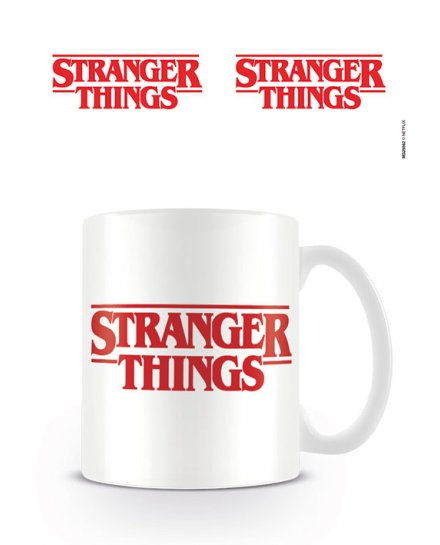 Mug Stranger Things Logo blanc et rouge