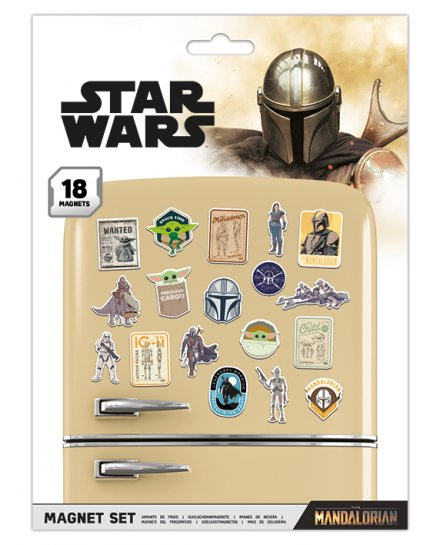 Pack de 18 aimants magnets Star Wars The Mandalorian