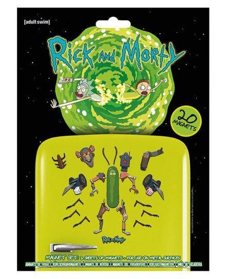Pack de 20 aimants magnets Rick et Morty