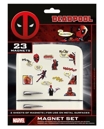 Pack de 23 aimants magnets Deadpool