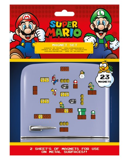 Pack de 23 aimants magnets Super Mario Nintendo