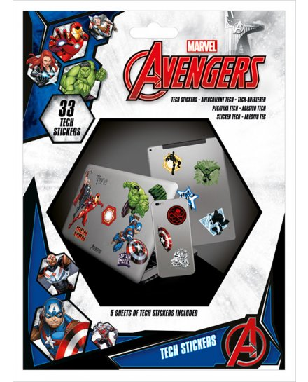 Pack de 33 tech stickers Avengers Marvel