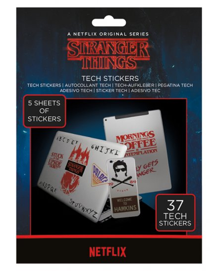 Pack de 37 Tech Stickers Stranger Things