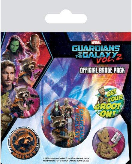 Pack de 5 badges Gardiens de la Galaxie