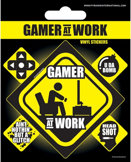 Pack de 5 Stickers Gamer at work