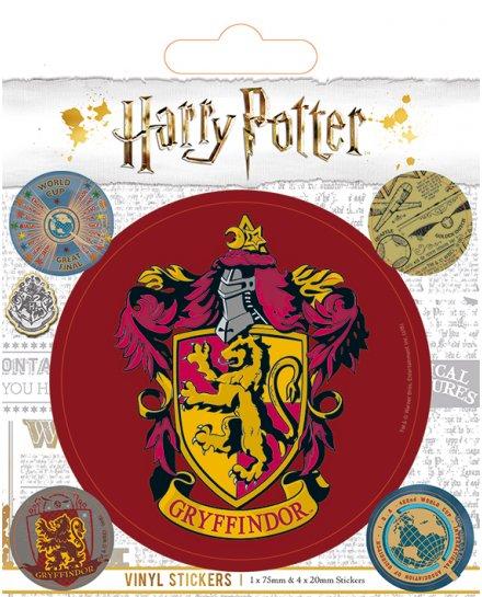 Pack de 5 Stickers Harry Potter Gryffondor vintage
