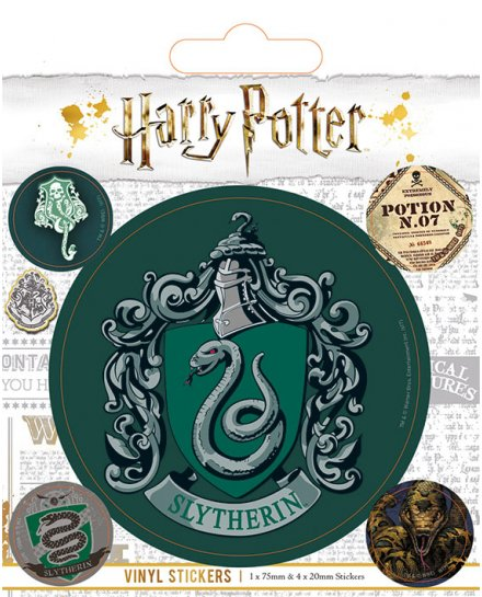 Pack de 5 Stickers Harry Potter Serpentard