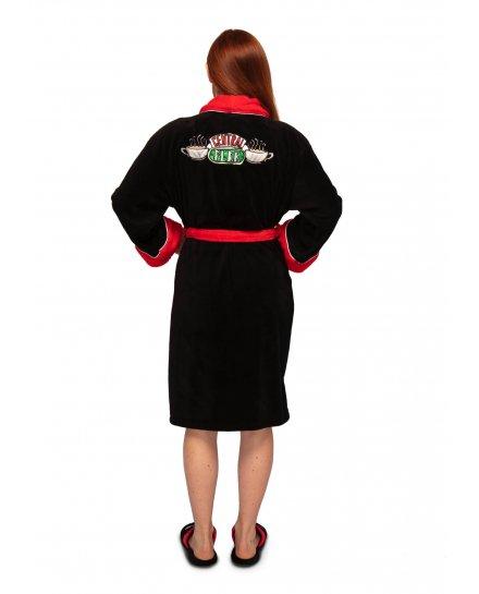 Peignoir Friends femme Central Perk noir et rouge