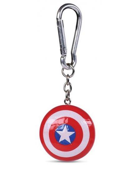 Porte-clés Captain America Bouclier 3D