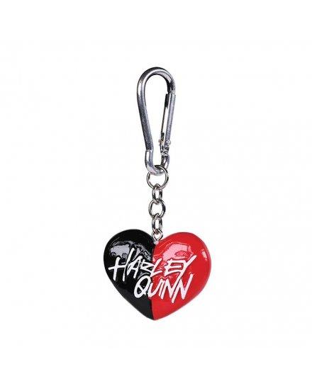 Porte-clés Harley Quinn Coeur Métal