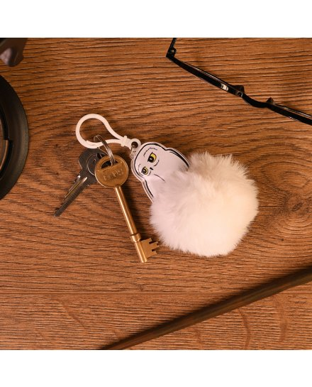 Porte-clés Harry Potter Hedwig Pompon