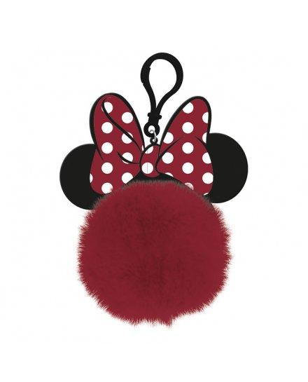 Porte-clés Minnie pompon oreille noeud