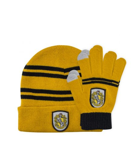 Set bonnet et gants enfant Poufsouffle Harry Potter
