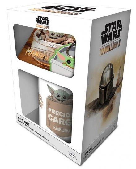 Set Star Wars Mug sous verre et porte-clés Baby Yoda Mandalorian