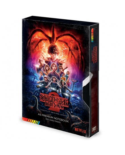 Carnet Bloc Notes Stranger Things (S2 VHS) Premium A5 Notebook
